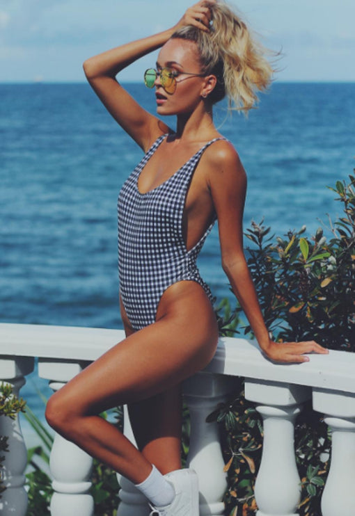 Bo Derek One Piece - GINGHAM