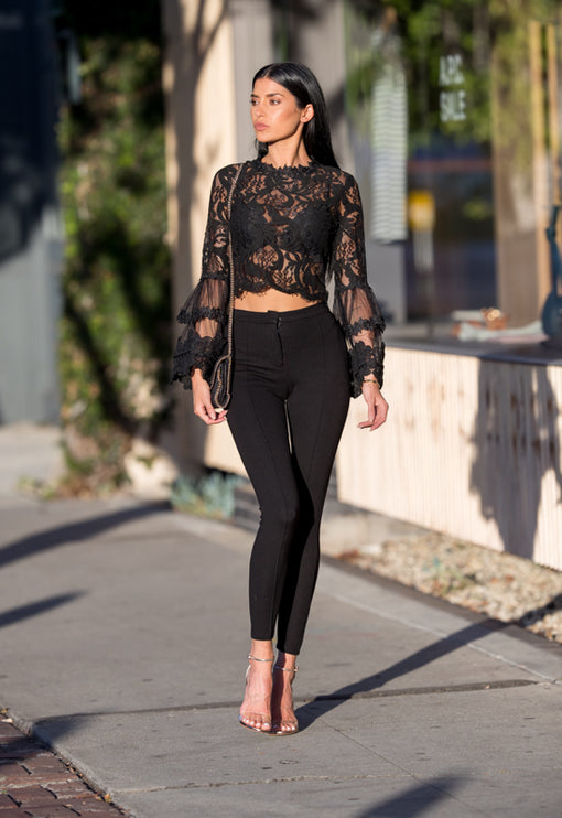 Chancellor Lace Top - BLACK