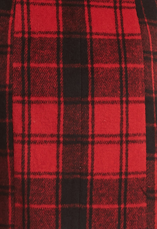 The South Bank Skirt - RED TARTAN