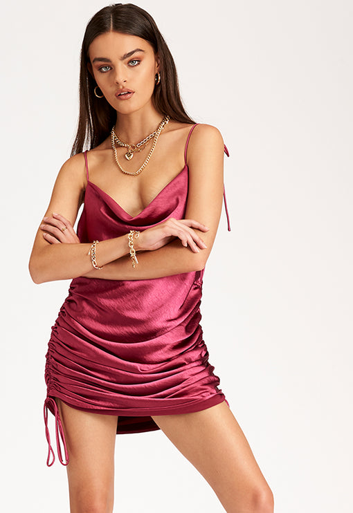 String Along Mini Dress – MAGENTA