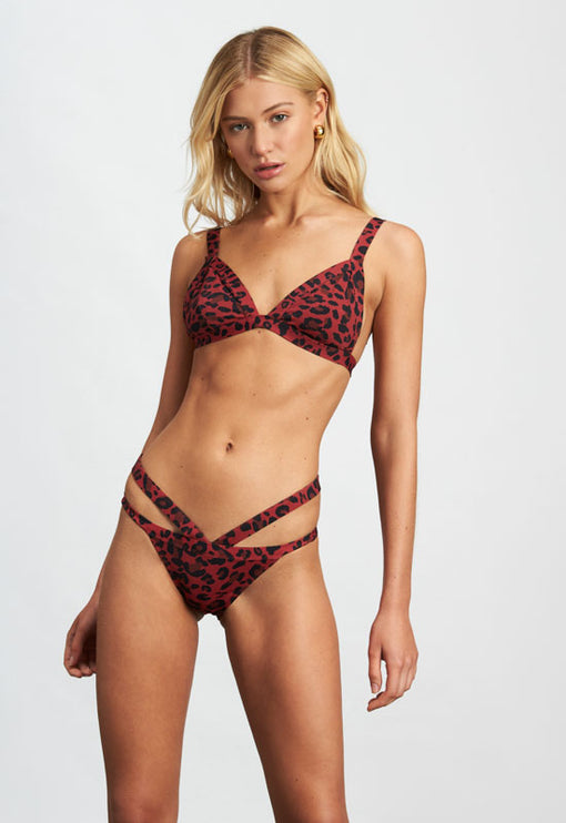 The Heidi - RED LEOPARD