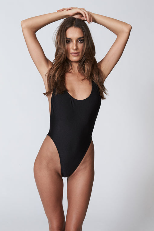 Côte d'Azur One Piece - BLACK