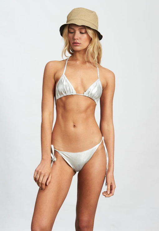 The Gisele Bikini - SILVER METALLIC