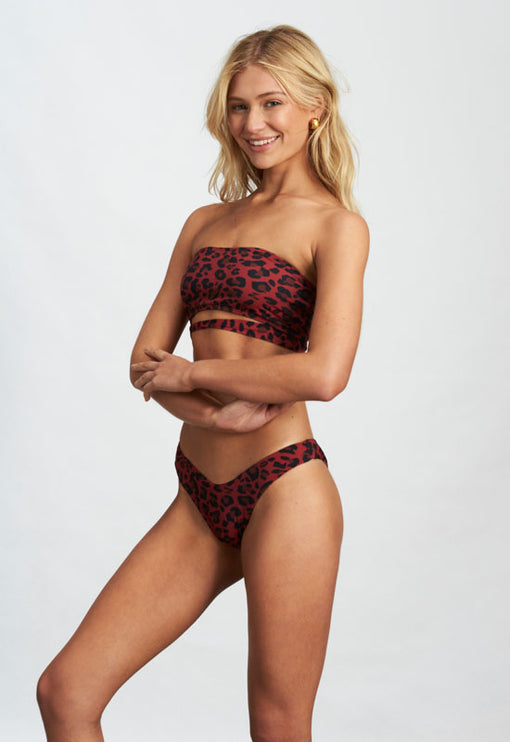 The Karlie - RED LEOPARD