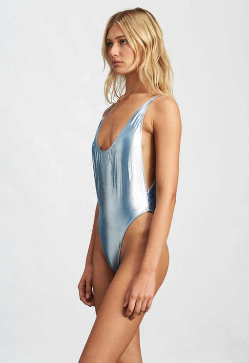 The Kendall One Piece - BLUE METALLIC
