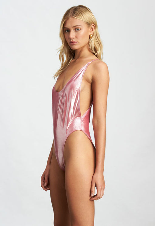 The Kendall One Piece - PINK METALLIC