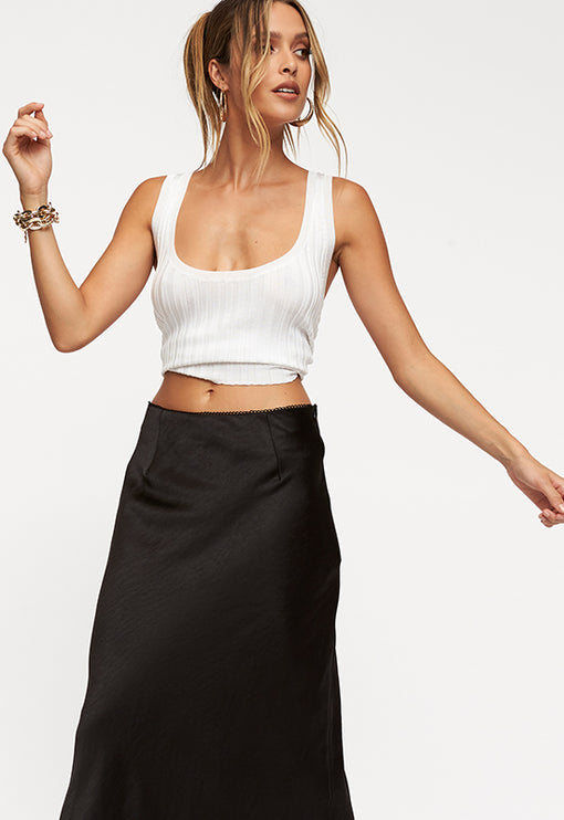 Untamed Nights Maxi Skirt - BLACK
