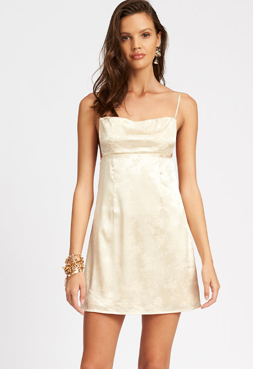 Versailles Mini Dress - CREAM