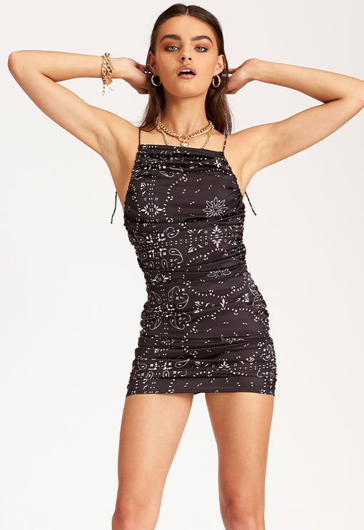 Wild Wild West Mini Dress – BLACK BANDANA