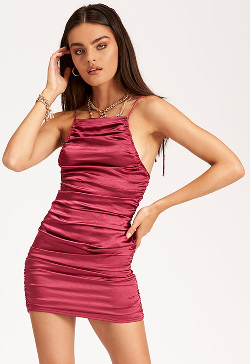 Wild Wild West Mini Dress – MAGENTA