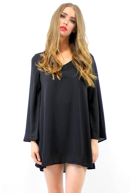 Ramble Swing Dress - BLACK