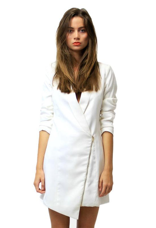 Blazer Dress - WHITE