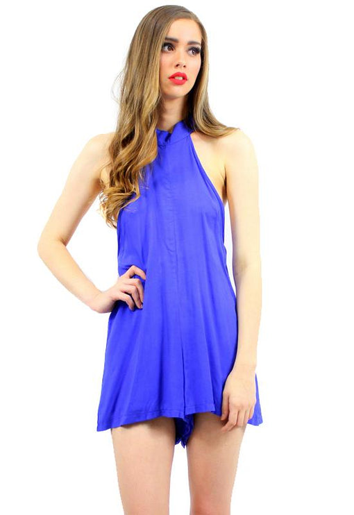 Isabelle Rayon Playsuit - BLUE
