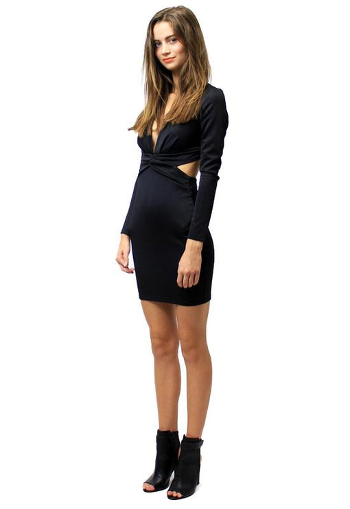 Willow Cut-Out Dress - BLACK