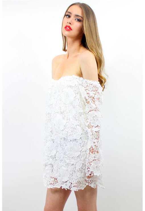 Hurricane Love Lace Dress - WHITE