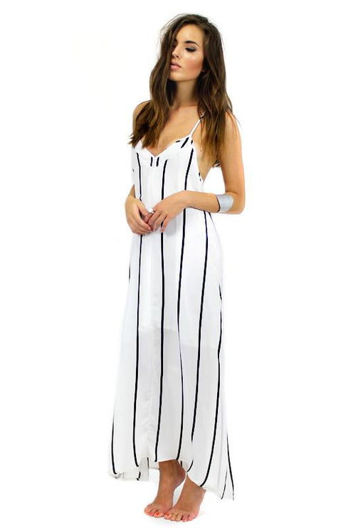 Lola T-Back Maxi - WHITE STRIPE