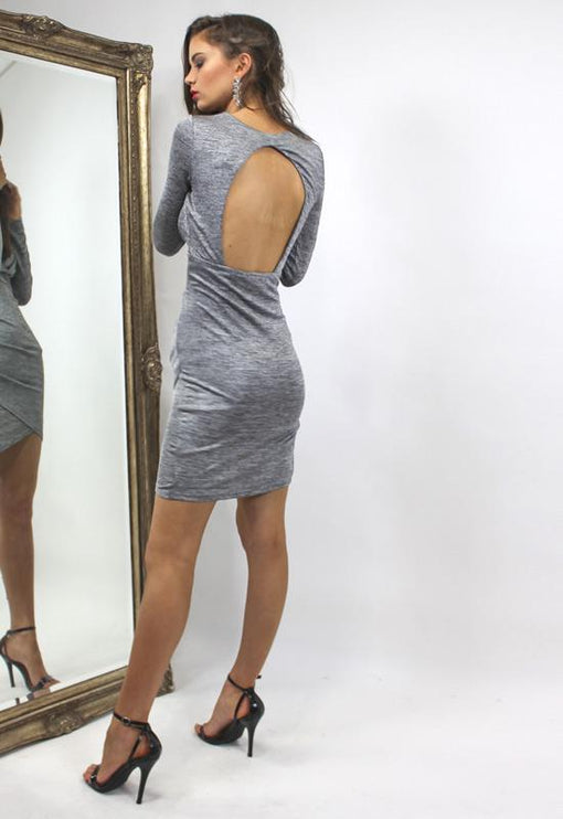 LUX Mia Greyscale Dress - GREY