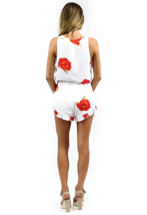 Wild Things Playsuit - RED FLORAL
