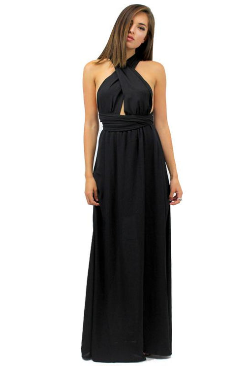 Multiway Maxi Dress - BLACK