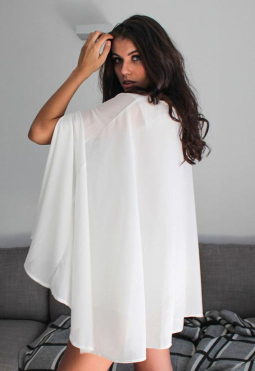 DAHLI Stevie Cape Top - WHITE