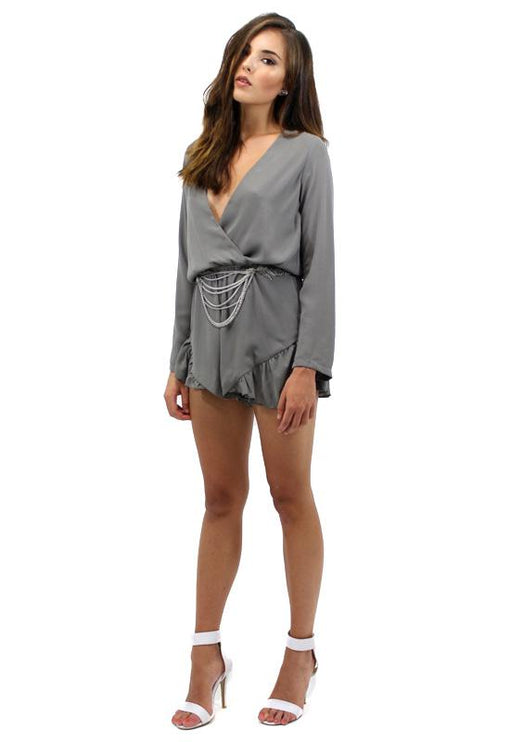 His Girl Playsuit - CHARCOAL