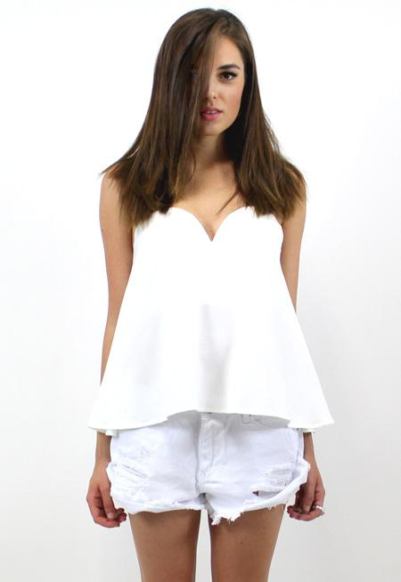 Avery Bustier Top - WHITE