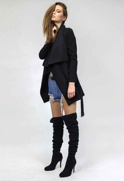 New York Minute Coat - BLACK