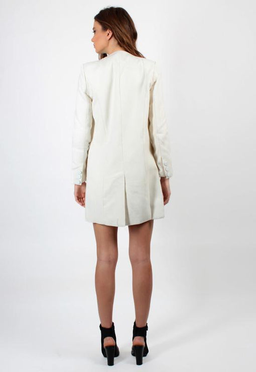 New Jupiter Lapel Coat - CREAM