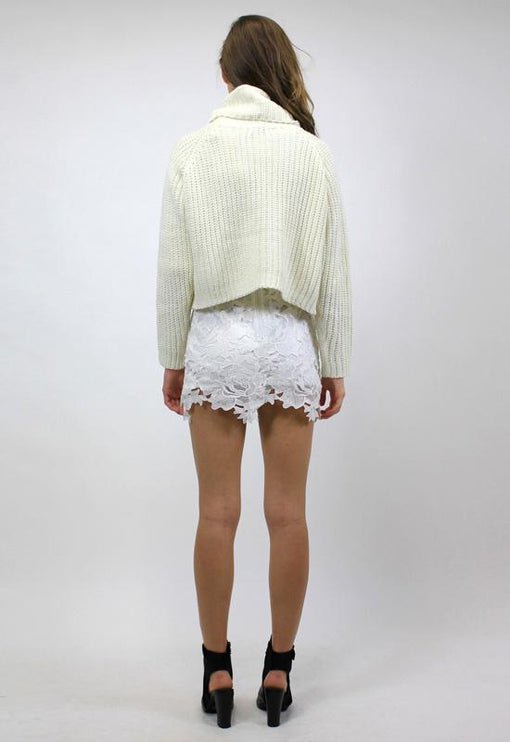 New World Turtleneck Knit - CREAM