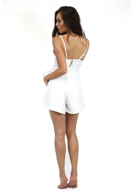Now & Then Playsuit - WHITE