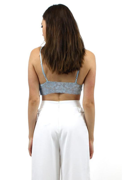 Bonfire Heart Lace Bralet - BLUE