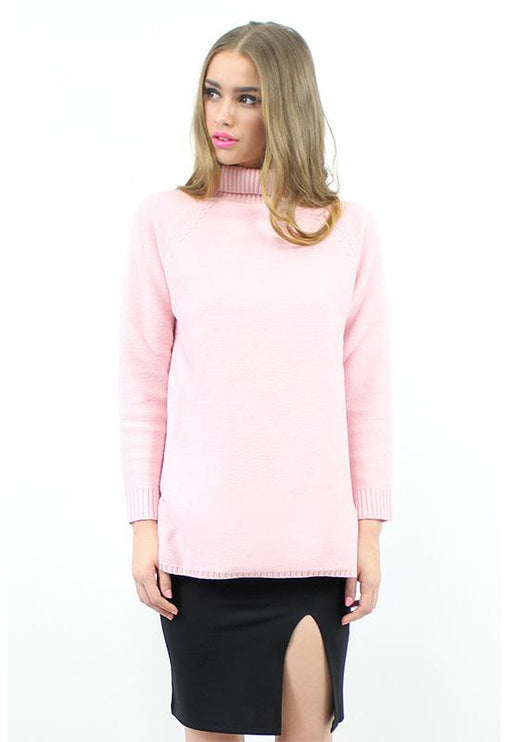 Turtleneck Knit - PINK