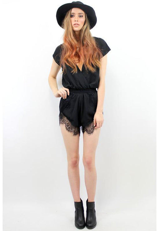 His Girl Holly Playsuit - BLACK