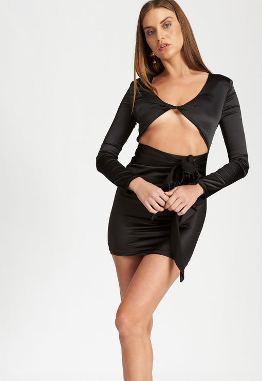 Manhattan Mini Dress - BLACK