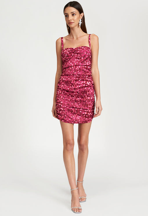 Mysterious Girl Mini Dress - PINK LEOPARD