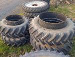 460/85R38 & 420/70R28 used dual wheels