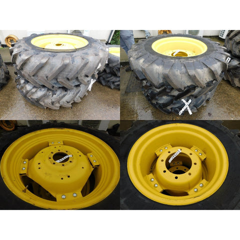 420/85R34 & 340/85R24 Michelin wheels, as-new condition.  John Deere