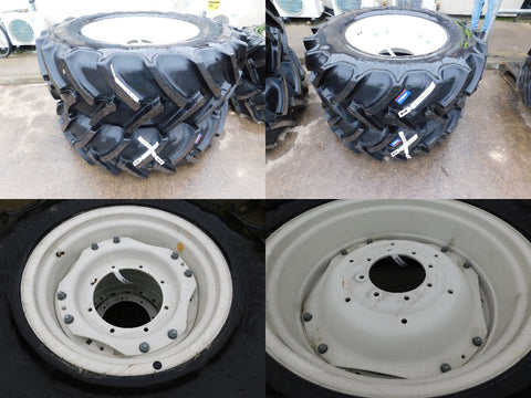 420/85R34 & 340/85R24 Mitas wheels, as-new condition.  New Holland
