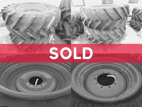 650/65R42 & 540/65R30 Trelleborg wheels, as-new condition.  Fendt 718-724