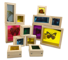 Load image into Gallery viewer, Wooden Sensory Rainbow Blocks with Mirror - Wooden Toy for Kids