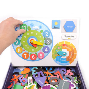 Montessori Educational Magnetic Wooden Puzzle Game (180pcs)
