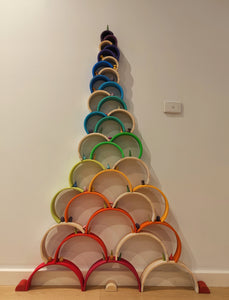 Large Wooden Rainbow Stacker - Wooden Toy for kids