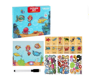 Magnetic Puzzles Book Educational Learning Kit