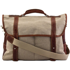 MULHOLLAND BROTHERS BISON LINEN PROFESSORS BRIEFCASE