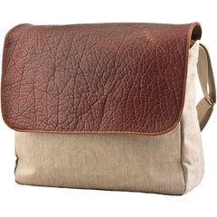 MULHOLLAND BROTHERS BISON LINEN DOWNTOWN MESSENGER
