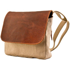 MULHOLLAND BROTHERS BISON LINEN MIGHTY MESSENGER