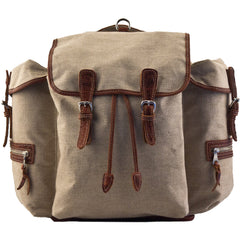 MULHOLLAND BROTHERS BISON LINEN RUCKSACK BACKPACK