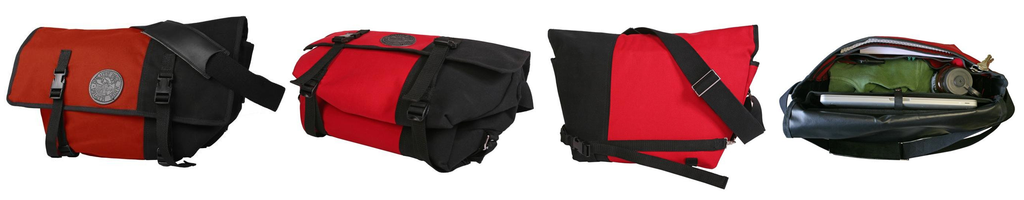 Duluth Pack Messenger Bag Red 360 View