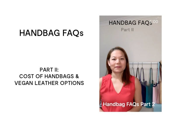Handbag and Leather FAQs from Designer Stacy Chan