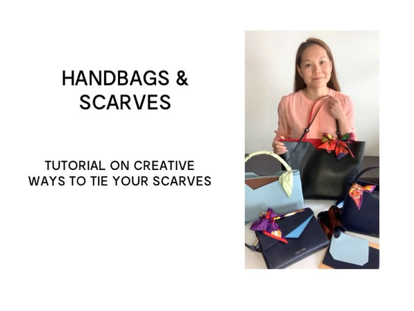 Ideas How to Tie a Scarf on a Handbag
